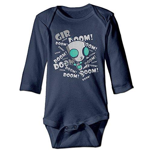 ALEXBY Boy's & Girl's Invader Zim Cartoon Gir Role Long Sleeve Baby Climbing Clothes
