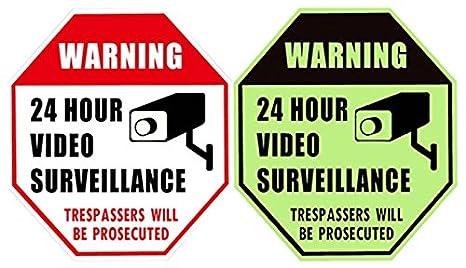 Amazon.com: WISLIFE cartel de vigilancia por video ...