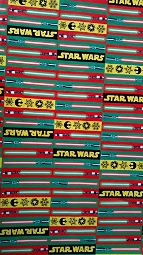 Star Wars Wrapping Paper Lightsaber Christmas Gift Wrap (1 Roll, 70 Sq. (Saber Gift)