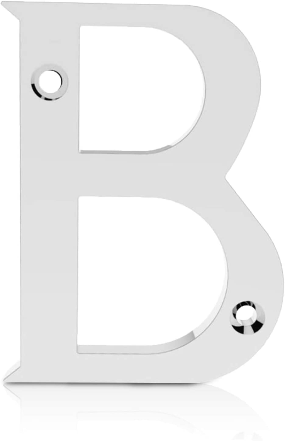 Number 0 and Composite. Elegant and Bold Door Numerals in a Beautiful Polished Chrome Mirror Finish Suitable for All Door Types Including Wooden XFORT/® 3 Inch Screw Fix Front Door Number uPVC