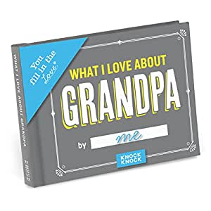 """Knock Knock What I Love about Grandpa Fill in the Love Journal, 4.5"""" x 3.25"""" (50260)"""