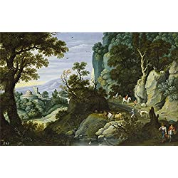 Oil Painting 'Ryckaert Martin Paisaje Quebrado Y Penascoso 1616', 30 x 47 inch / 76 x 119 cm , on High Definition HD canvas prints is for Gifts And Dining Room, Foyer And Study Room Decoration, giant