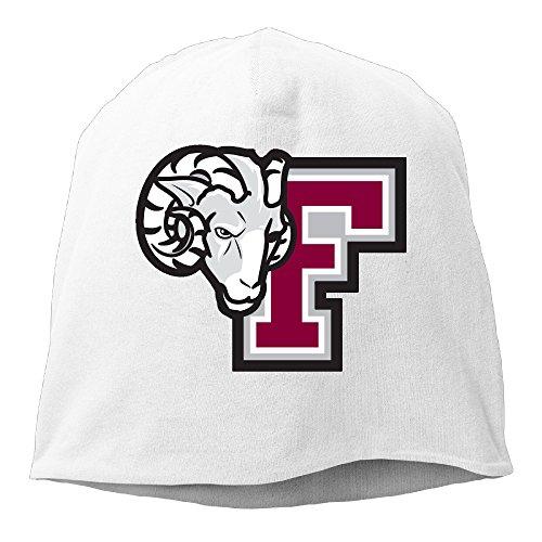 YUVIA Fordham Mascot F Logo University Men's&Women's Patch Beanie B-boyWhite Caps For Autumn And Winter