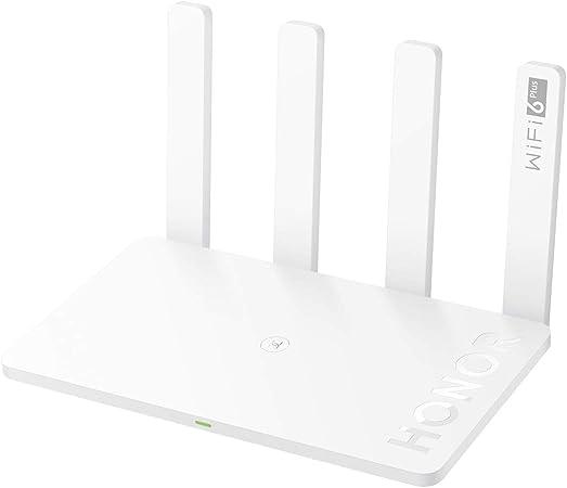 HONOR Router 3 Huawei Router Inalámbrico WiFi 6 Plus Enrutador Inteligente 3000Mbps de Doble Banda 2.4GHz/5GHz Router Gigabit con 4 Puertos Ethernet ...