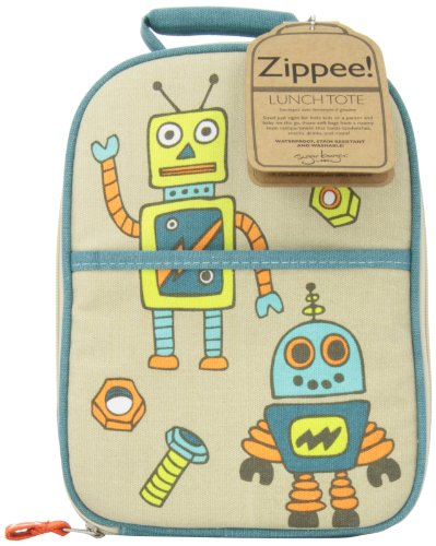 Sugarbooger Zippee Lunch Tote, Retro Robot