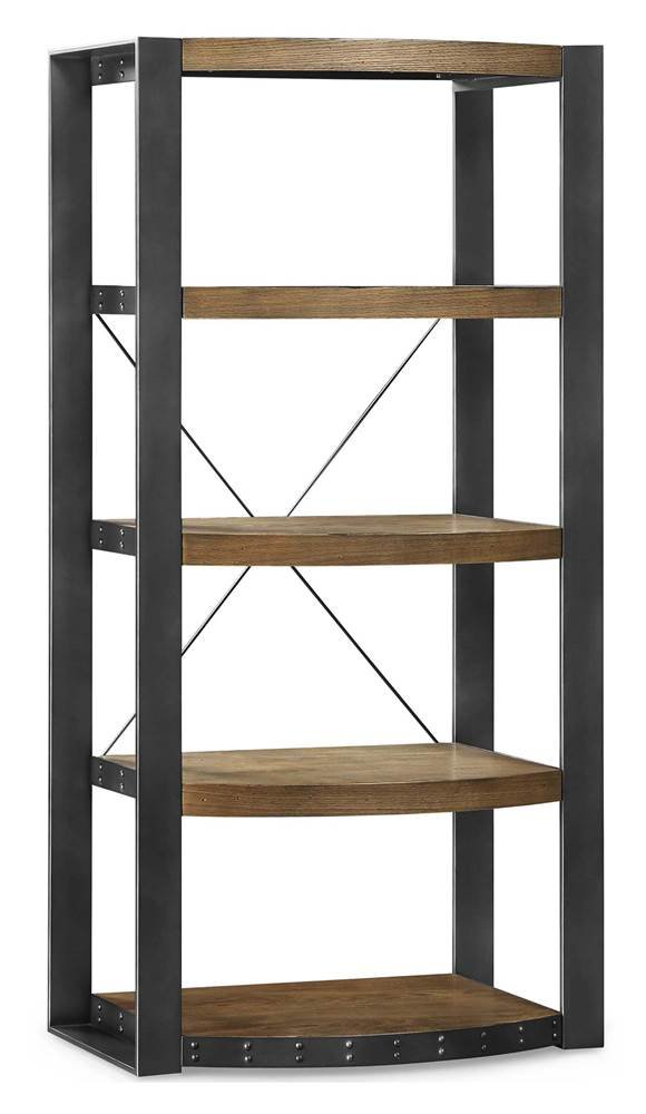 Whalen Furniture Santa Fe Storage Shelf and Audio Tower Stand by Whalen Furniture