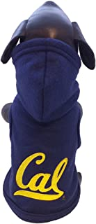 product image for NCAA California Golden Bears Polar Fleece Hooded Dog Jacket, X-Small