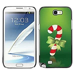 YOYO Slim PC / Aluminium Case Cover Armor Shell Portection //Christmas Holiday Red Candy Stick 1074 //Samsung Note 2