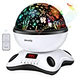kids room design Night Light Projector Remote Control and Timer Design Projection lamp, Built-in 12 Light Songs 360 Degree Rotating 8 Colorful Lights Children Kids Gift for Birthday,Parties,Bedroom (Black White)