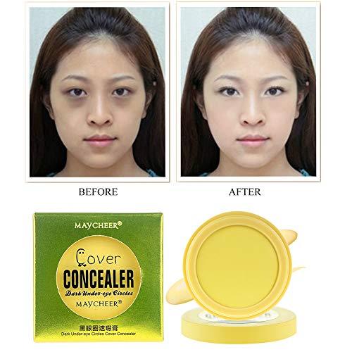 Under Eye Bags Cover Concealer Cream Lighten Dark Circles Full Cover Freckles Acne Marks Eye Concealer -