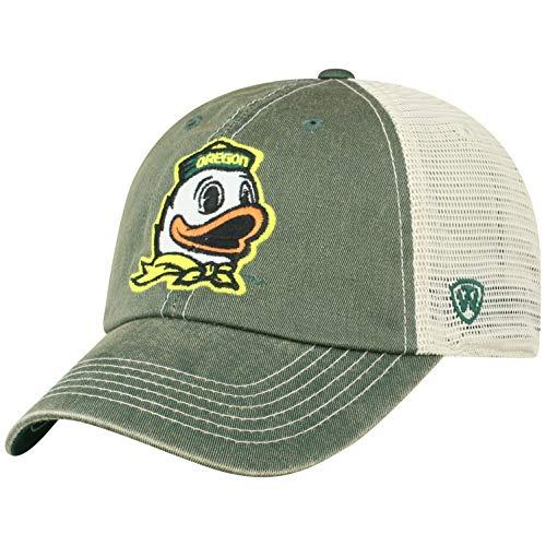 Top of the World Oregon Ducks Men's Vintage Hat Icon, Green, Adjustable