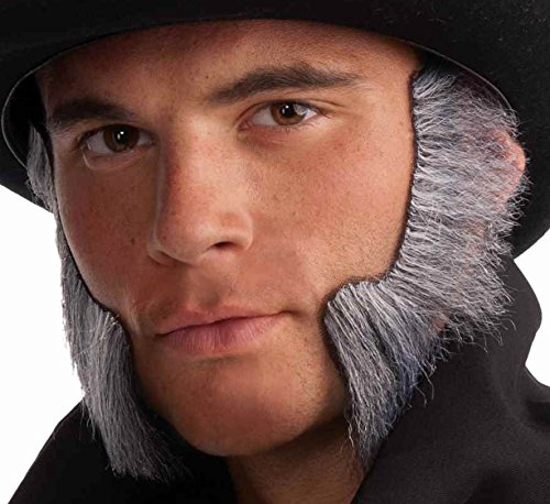 [Forum Novelties Men's Handmade Novelty Mutton Chops, Gray, One Size] (Chop Chop Halloween Costumes)