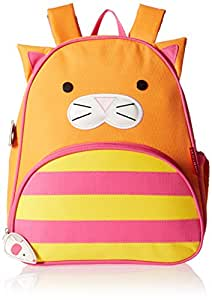 Skip Hop Zoo Toddler Kids Insulated Backpack Chase Cat Girl, 12-inches, Orange