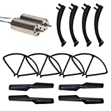 Holy Stone HS171 RC Drone Quadcopter Spare Parts Crash Pack (1 Spare Blades Set+ 4 Propeller Guards+ 4 Landing Gears + 2 Replacement Motors)