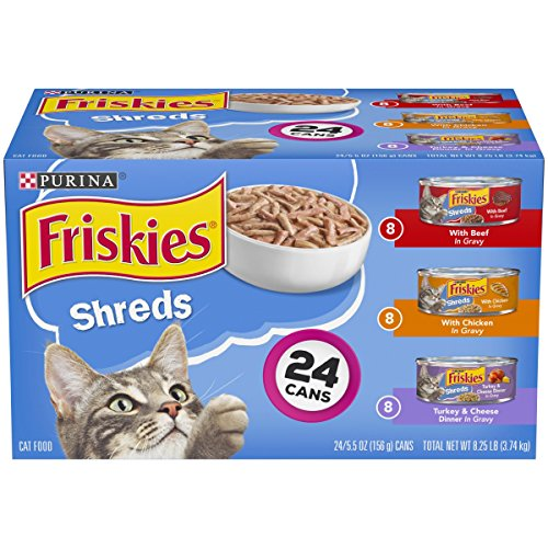 Purina Friskies Shreds Wet Cat Food Variety Pack - (24) 5.5 Oz. Cans