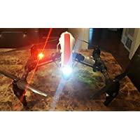 Drone Quadcopter UAS Red LED Strobe Light for DJI Inspire 1 Phantom Mavic Typhoon H Yuneec FAA Required for Navigation Fully Self Contained NO Wiring Needed