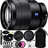 Sony Vario-Tessar T* FE 24-70mm f/4 ZA OSS Lens Bundle Includes Manufacturer Accessories + 3PC Filter Kit + 4PC Macro Lens Kit + Lens Pen + Dust Blower + Cap Keeper + Microfiber Cleaning Cloth
