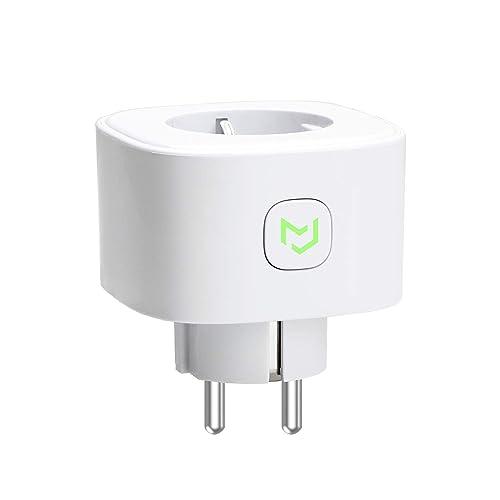 Meross Enchufe inteligente Schuko MSS210 EU WiFi inalámbrico 16 A 3680 W función de temporizador compatible con Amazon Alexa Google Assistant e IFTTT control remoto a través de Android e iOS