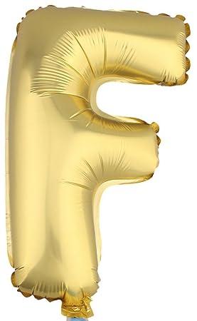 EOZY-Lote de 10 Globos Letras Oro Foil Globo Ortografia Palabras Para la Decoración de
