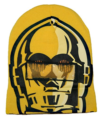 Star Wars Mens' C3PO Roll Down Mask Winter Beanie Hat for sale  Delivered anywhere in USA