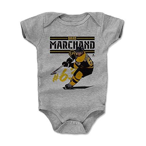 (500 LEVEL Brad Marchand Boston Bruins Baby Clothes, Onesie, Creeper, Bodysuit (3-6 Months, Heather Gray) - Brad Marchand Play K)