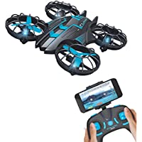 RC Quadcopter Drone Aircraft Plane Warcraft with Mini WIFI FPV Camera 2.4G 4CH UFO Helicopter with Altitude Hold, Headless Mode, 0.3MP Rolling for JXD 515W Built-in USB Battery