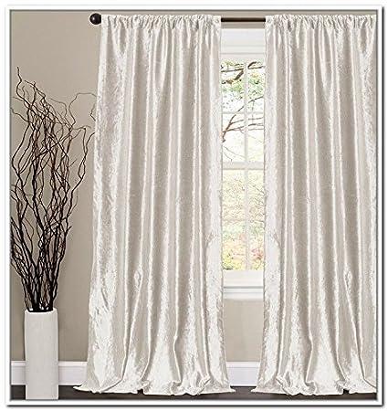 OFF WHITE Thick Velvet Curtains