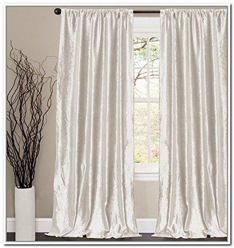 Amazon.com: Velvet Curtains/Drapes, OFF WHITE Color, Window ...