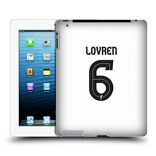Official Liverpool Football Club Dejan Lovren Players Away Kit 17/18 Group 2 Hard Back Case for Apple iPad 3 / iPad 4