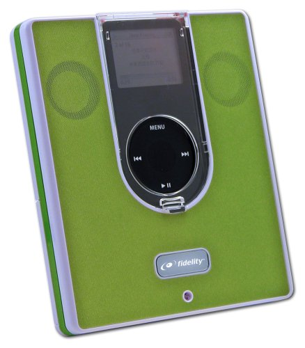 Aiptek Fidelity Mist II Speaker for iPod nano 2G (Green)