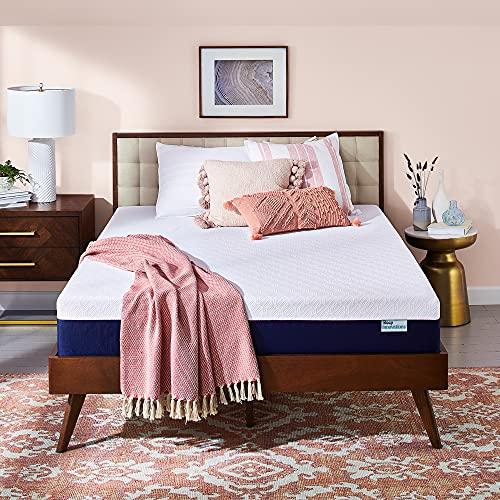 Sleep Innovations Shiloh Medium Firm Memory Foam, Queen, White
