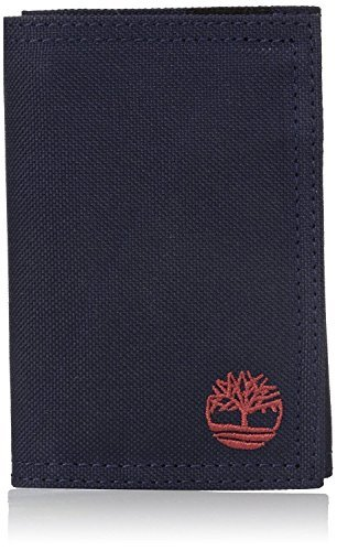 Timberland Men's Nylon Trifold Navy Wallet (Velcro Nylon Wallet)