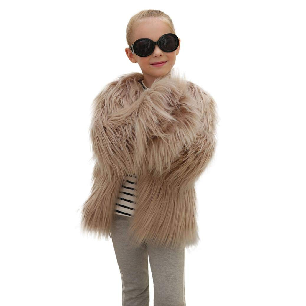 Kids Baby Girls Autumn Winter Faux Fur Coat,HOMEBABY Infant Girls Jacket Thick Warm Outwear Clothes Cardigan