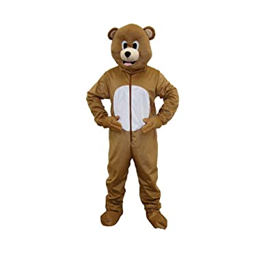 a4a2e5c4d954 Amazon.com  Dress Up America Brown Bear Mascot For Adults and kids ...