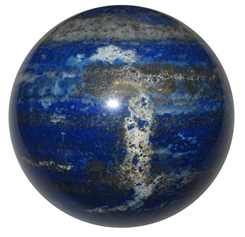 - SatinCrystals Lapis Lazuli Ball Sphere Collectible Royal Blue Afghan Healing Stone with Pyrite, Exact One C05 (2.8