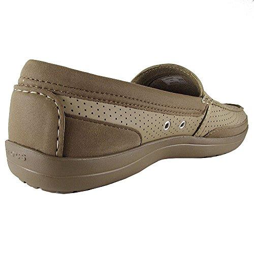 Crocs Heren Wrap Colorlite Geperforeerde Loafer Schoenen Van Kaki / Walnoot