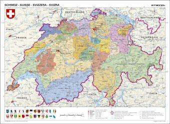 Schweiz, politisch. Schreibunterlage