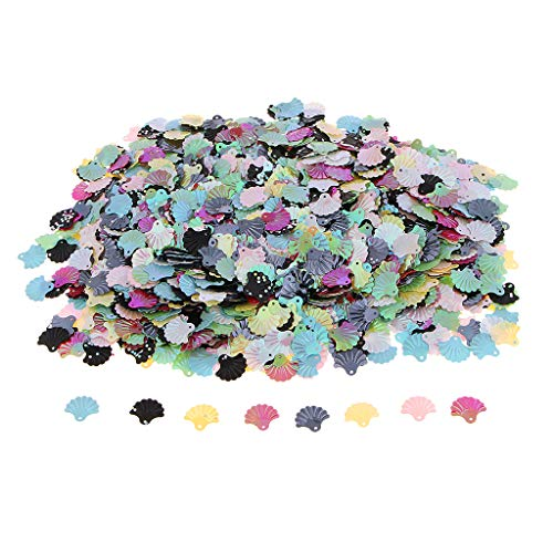 - Prettyia Large Shell Flat Loose Sequins for DIY Arts Crafts, Sewing Craft, Wedding Decoration, 15x14mm, 100 Gram - C11