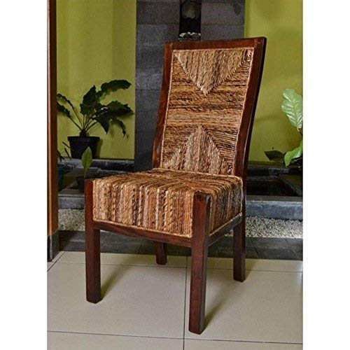 International Caravan Furniture Piece Set of Two Dallas Abaca Weave Dining Chair