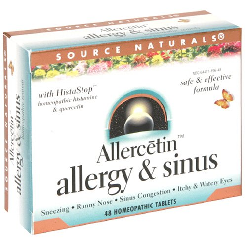 Source Naturals Allercetin Allergy and Sinus, 48 Tablets (Pack of 4)