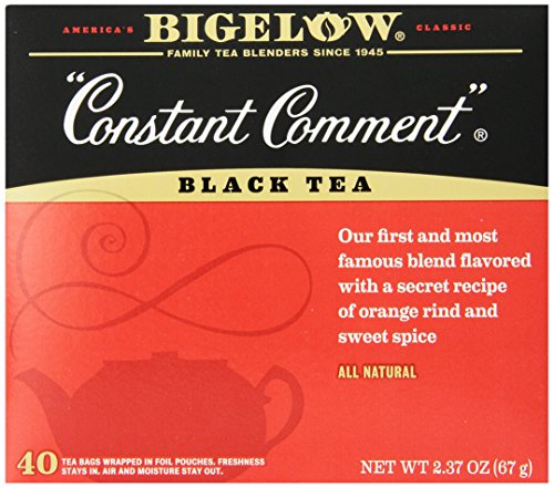 Bigelow Constant Comment Tea, 40-Count Boxes (Pack of (Bigelow Black Tea)