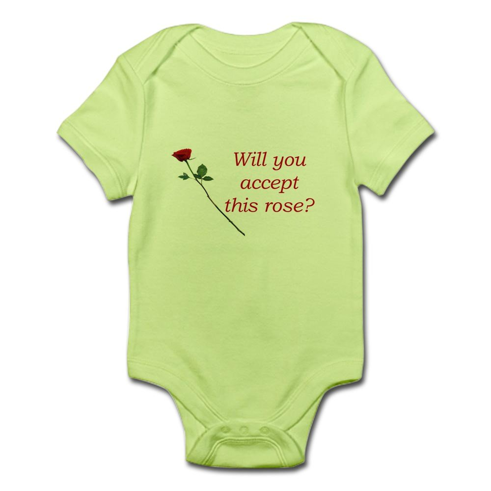Cute Infant Bodysuit Baby Romper Will You Accept This Rose? CafePress