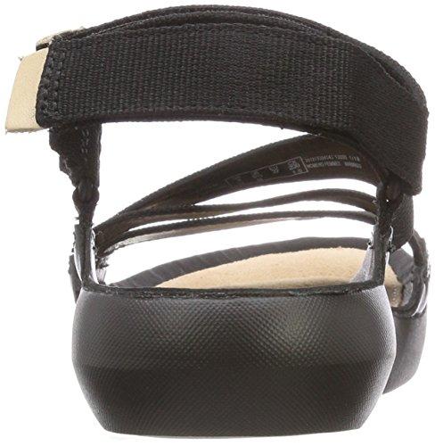 Combi Sienna Tri Textile Black Clarks Womens Sandals xqY7gEEf