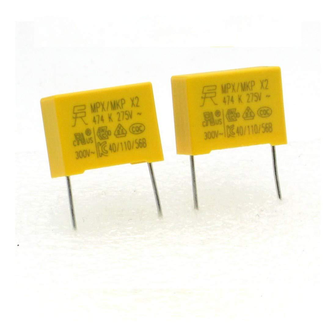 224con483 2x Condensateurs MPX MPK X2 474K 470nf P:15mm 275V