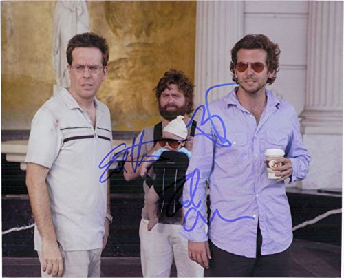 Signed Hangover, The (Bradley Cooper / Ed Helms / Zach Galifianakis) Sgned 8x10 Photo By Bradley Cooper, Ed Helms and Zach Galifianakis - The Cooper Hangover Bradley