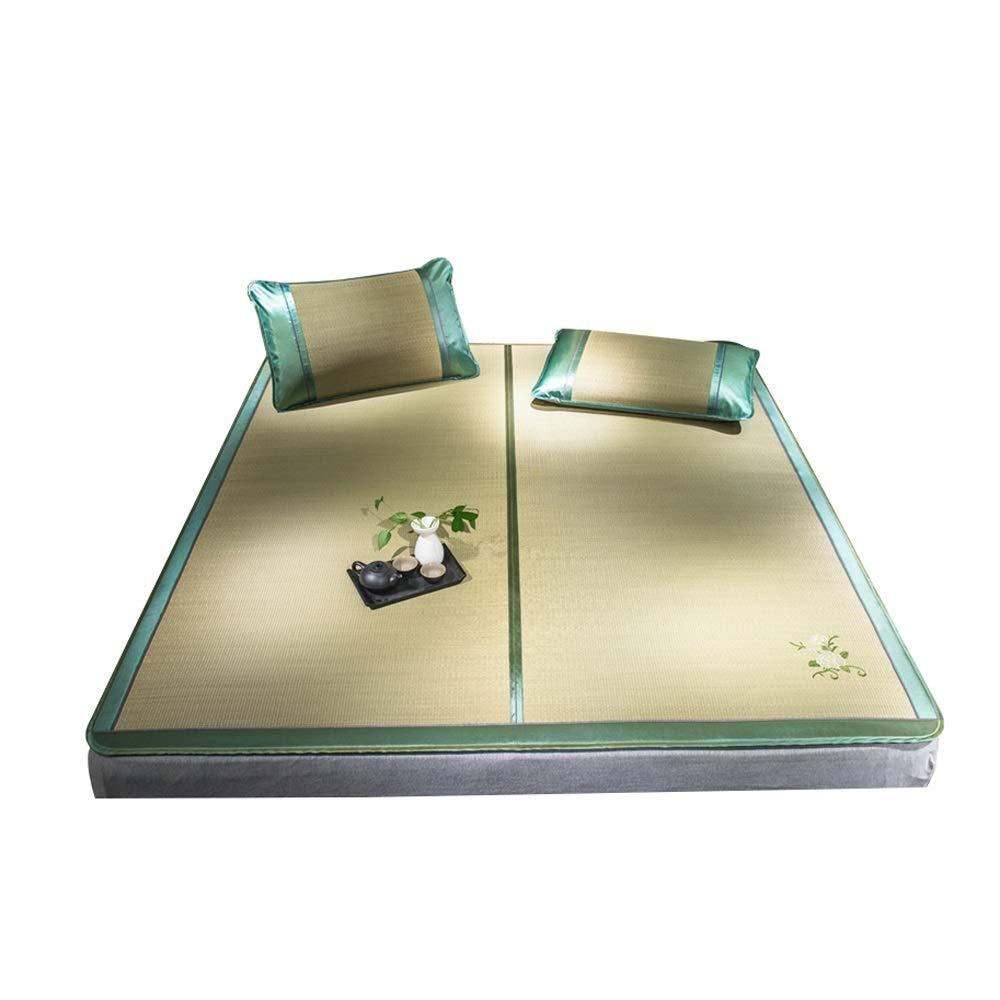 LI MING SHOP 自然なわらのマット1.2-1.5メートルの夏の折り畳み式の単一の二重マットレスのマット大人、子供、高齢者は使用できます (Size : 120x195cm) 120x195cm  B07TXG72KT