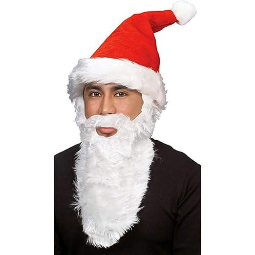 Amazon.com  Rubie s Costume Co. 22026 Plush Santa Hat with Beard ... dd875f00dd1
