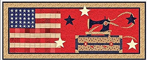 American Quilter Table Runner QUILT KIT - Quilt Pattern + Moda Patriotic Sew American Fabric + BONUS !