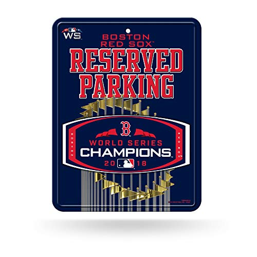 (Rico Tag Express Boston Red Sox 2018 World Series Champions Metal Reserved Parking Sign )