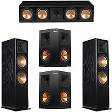 Klipsch 5.0 Black Ash System with 2 RF-7 III Floorstanding Speakers, 1 RC-64 III Center Speaker, 2 Klipsch RP-250S Surround Speakers